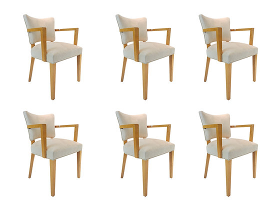 #1793 Set of 6 French Deco Dining Chairs