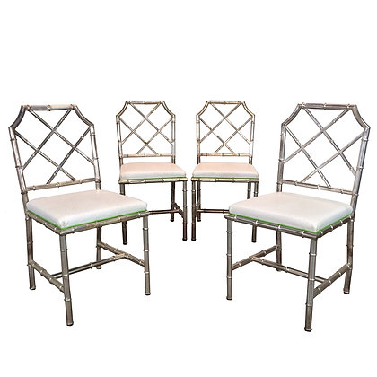 #6490 Set of 4 Italian Faux Bamboo Chairs