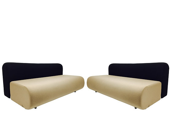 #2375 Pair Suzanne Settees for Knoll by Takahama