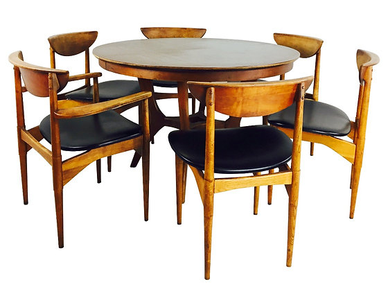 #2638 MCM Dining Table & 6 Chairs
