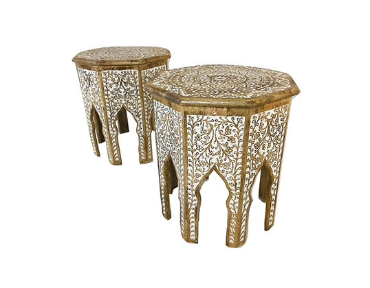 #4602 Pair Moroccan Side Tables