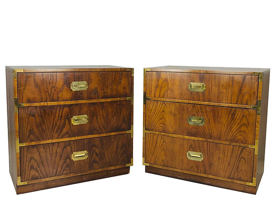 #4049 Pair of Vintage Campaign Chests by Dixie