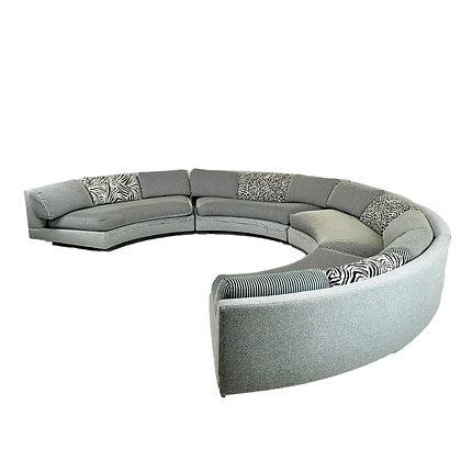 #5444 Milo Baughman Curved Sectional Sofa