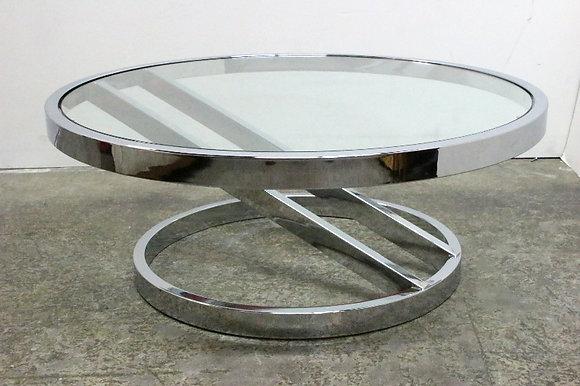 #1207 Chrome & Glass Coffee Table