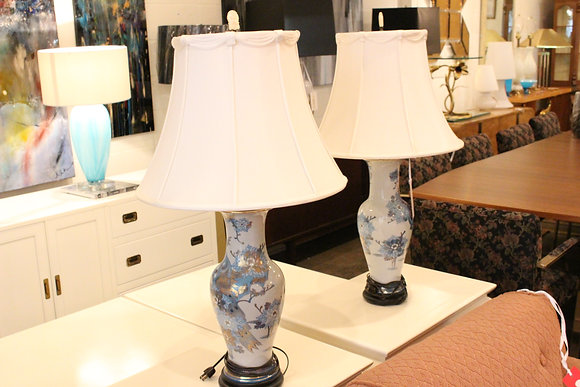 8453 Blue Chinoiserie Lamps
