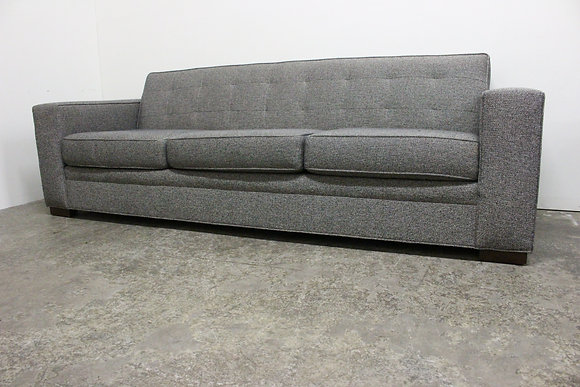 8738 Black Tweed Sofa