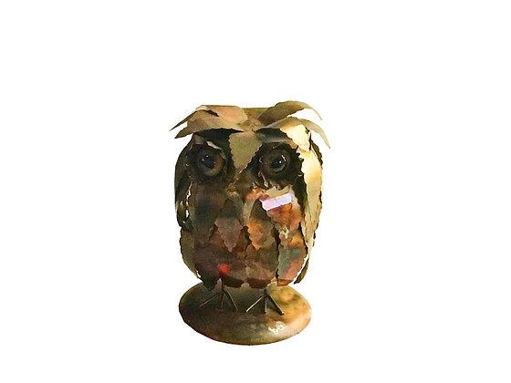#2063 Small Brass Owl by Curtis Jeré