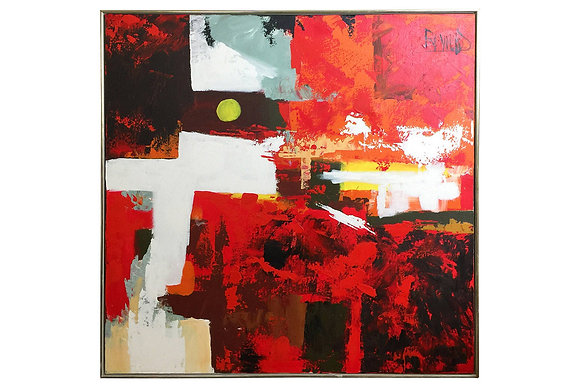 #1472 Red Abstract by Lee Reynolds