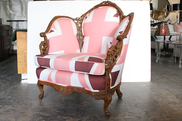 #1240 Pink Union Jack Chair