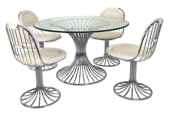 #1788 Mid-Century Modernist Dining Table Set