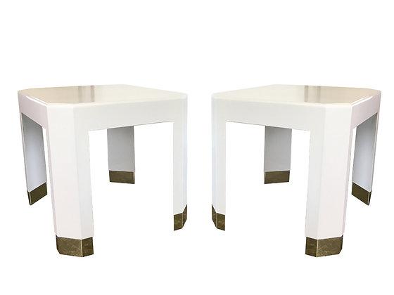 #2325 Pr Karl Springer Side Tables