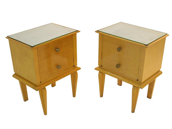 #1794 Pair French Deco Nightstands