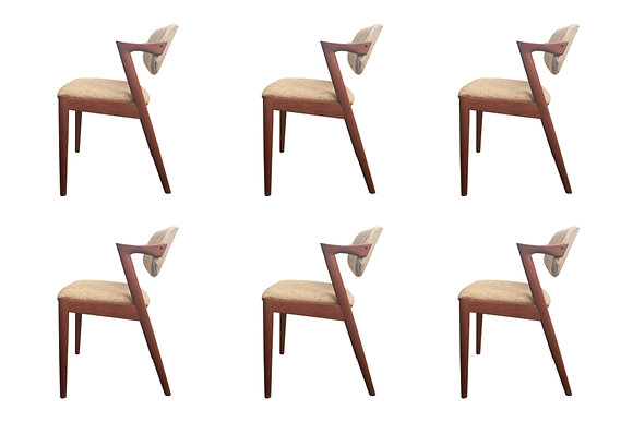 #1084 Set of Six Kai Christensen Dining Chairs