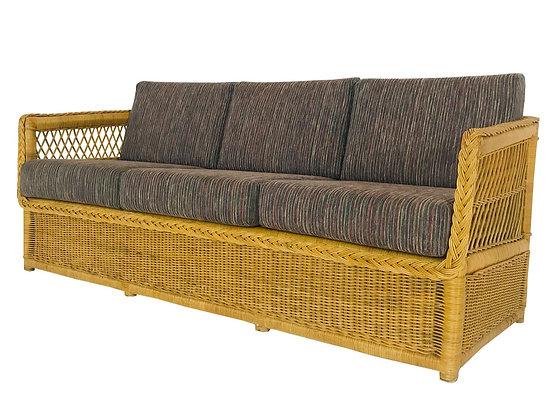 #4308 McGuire Style Rattan Sofa