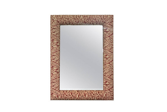 #1462 Red Upholstered Mirror