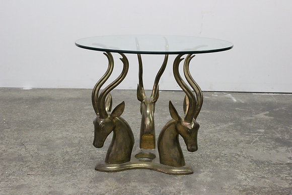 8419 Brass Gazelle Side Table