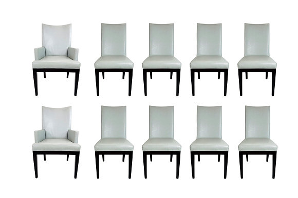 #5685 Set of 10 A. Rudin Faux Snakeskin Dining Chairs