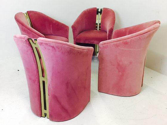 #2616 Set of 4 Brass Spine Chairs