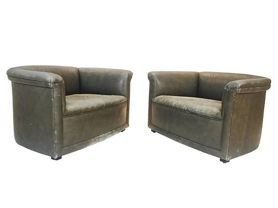 #2122 Pair of Club Chairs by Ward Bennett
