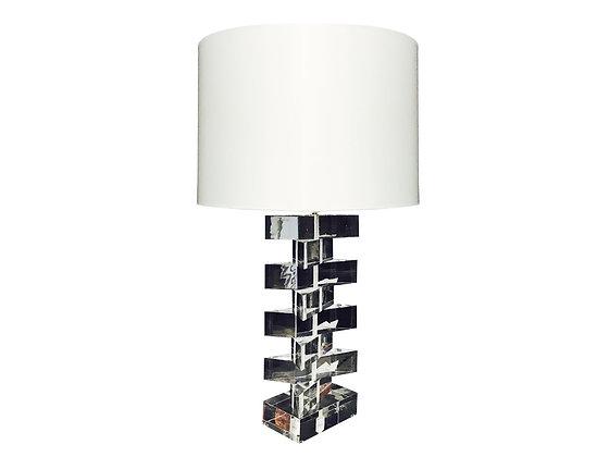 #1165 Custom Lucite Stacked Lamp