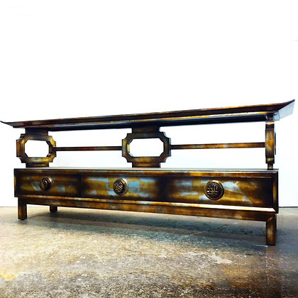 #4989 James Mont Gilded Console