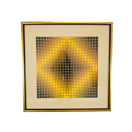 #5472 Victor Vasarely Framed Lithograph