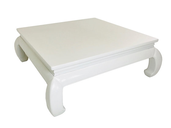 #2540 White Lacquered Ming Coffee Table