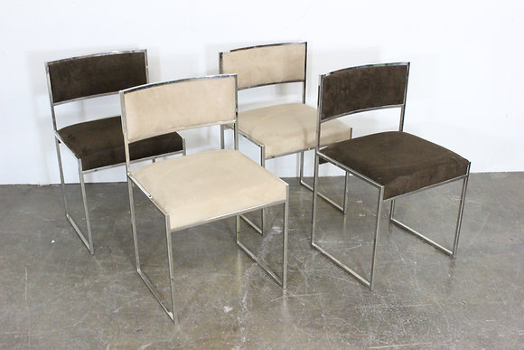 #1847 Set of 4 Willy Rizzo Dining Chairs