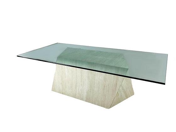 #5317 Mecox Travertine Dining Table