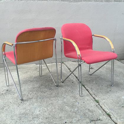 8638 Coral Chairs w/ Chrome Base