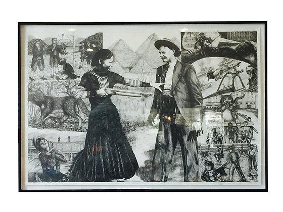 #1682 Texas Art (Graphite) by Bill Haveron