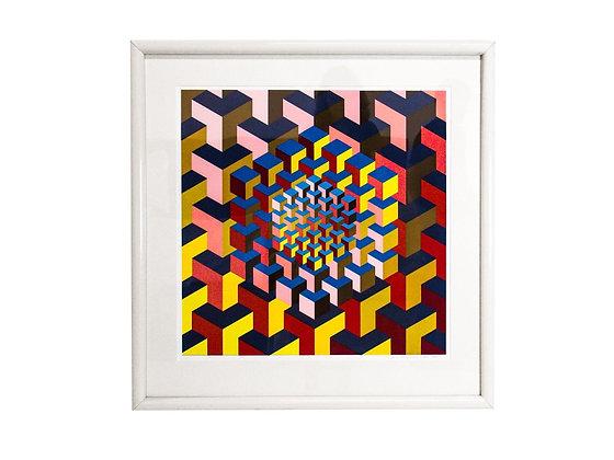 #3101 Optical Art by Yaacov Kaszemacher