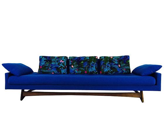 #3175 Blue Adrian Pearsall Gondola Sofa