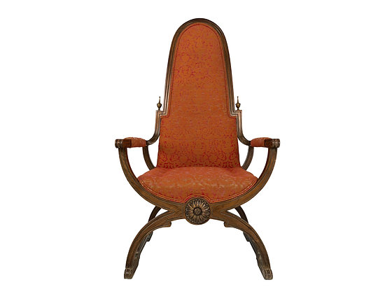 #8716 Tall Back Regency Style Throne Chair