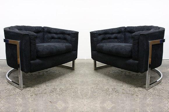 8659 Pr Milo Baughman Cantilever Tub Chairs