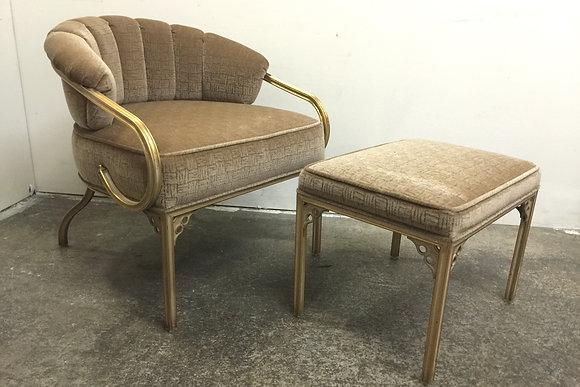"#1103 ""Cymbal"" Chair & Ottoman"