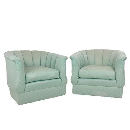 #4608 Pair Modern Club Chairs