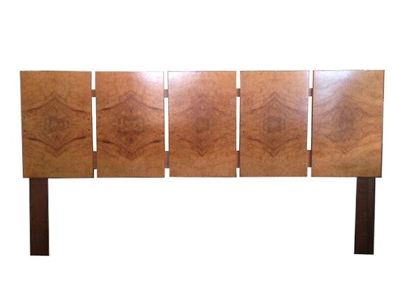 #1070 King Size Burl Wood Headboard by Milo Baughman for Lane