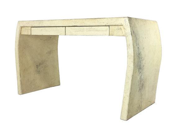 #2588 Modern Faux Goatskin Desk