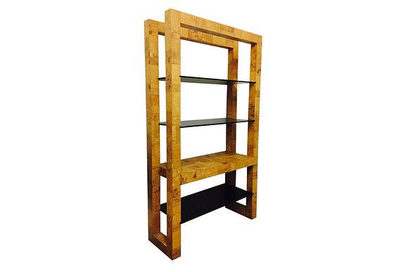 #809 Paul Evans Tall Shelf w/Smoke Glass Shelves