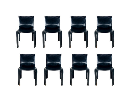 "#5253 Set 8 Cassina ""Cab"" Chairs"