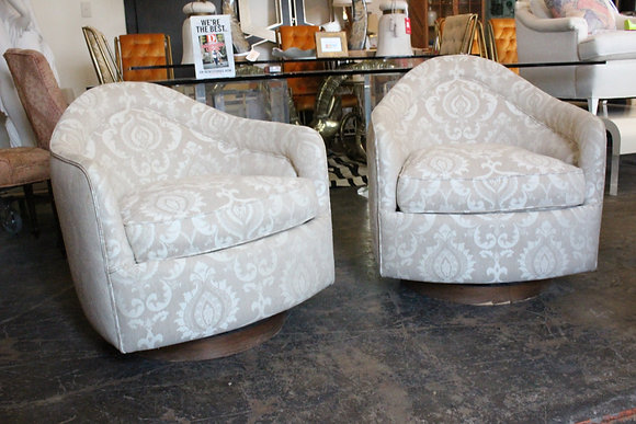 #1053 Pair Milo Baughman Drop Chairs