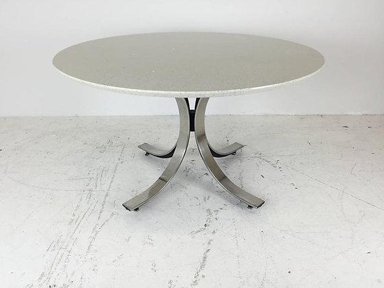 #2163 Borsani Round Quartz Top Dining Table