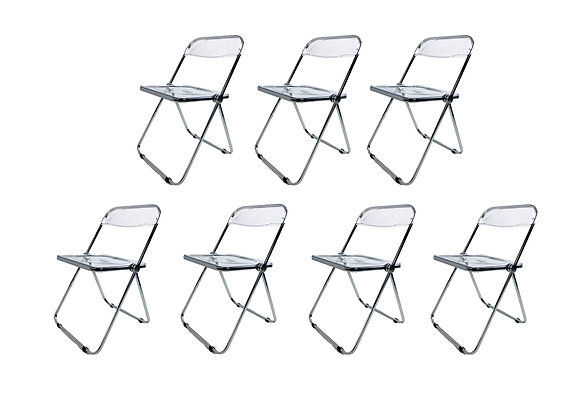 #5471 Set of 7 Lucite Folding Chairs