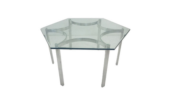 #4607 Mid Century Modern Aluminum Dining Table