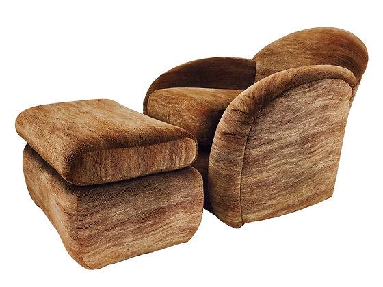 #2883 Club Chair & Ottoman by Interior Crafts Chicago