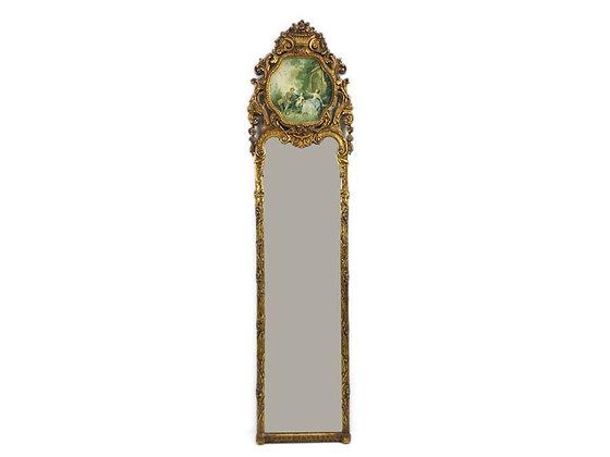 #4474 Full Length Gold Leaf French Mirror