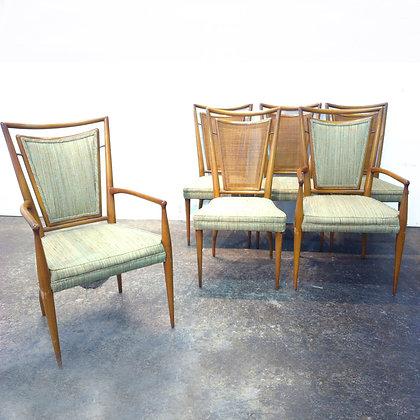 #4720 Set d 6 Widdicomb Chairs