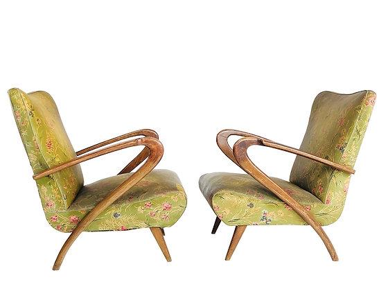 #2601 Pair Paolo Buffa Lounge Chairs