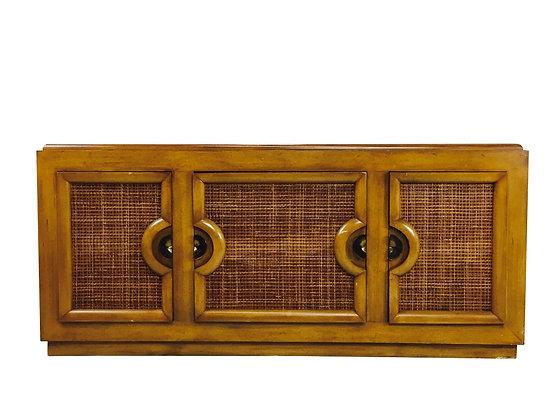 #2896 Brown Saltman Credenza in Style Paul Laszlo by Stewartstown Furniture